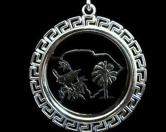 Greek Bezel Sterling Silver Quarter Sized- Addition Ancient