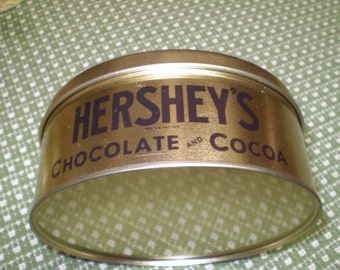 Hershey's Chocolate and Cocoa Advertising Tin