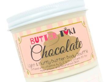 CHOCOLATE FROSTING Body Butter Soufflé 4oz - Body Lotion - Vegan - Paraben Free - Gluten Free - Handmade