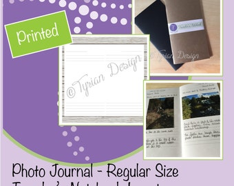 Photo Journal for Midori Traveler's Notebook,  Vacation Planning, Travel Journal