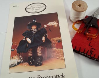 Witch doll pattern Broometta Broomstick Home Decor Halloween Fall