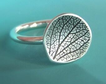 Petal Ring in Sterling Silver, Hydrangea Petal, Gardening Gift