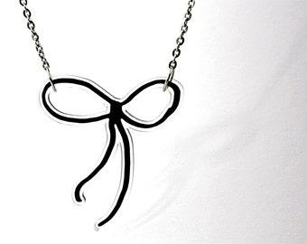 Acrylic Necklace RIBBON Finart-Jewellery