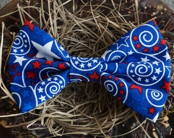 4th of July Bow/ RED WHITE & BLUE Bow/ Baby Girl/ Bowtie/ Bow/ Patriotic Bow