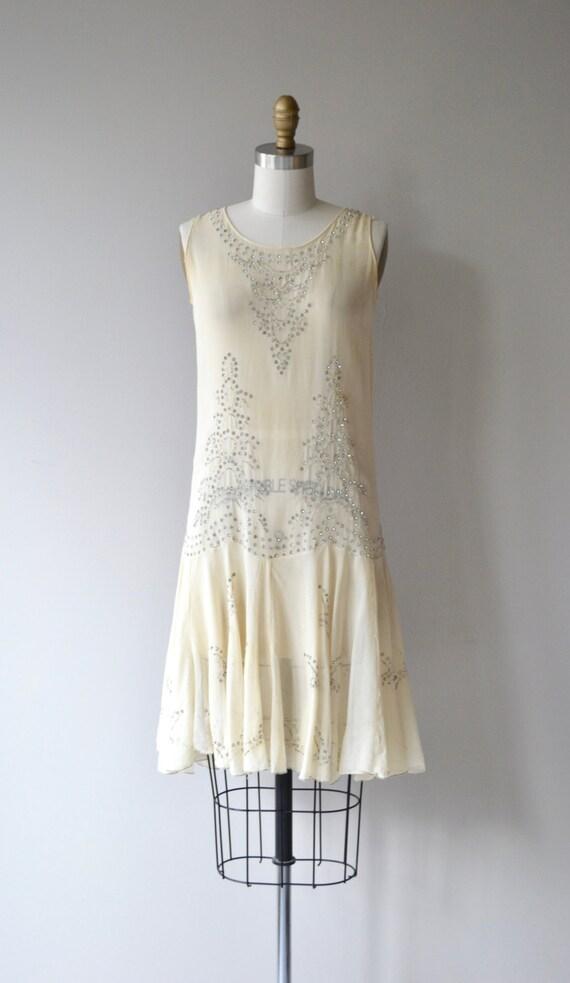dress 1920s silk dell'Ovato Fontana vintage 20s dress beaded dress wO5qgtzt