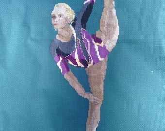 Gymnast Cross-Stitch Vasiliki Milousi (Greece)