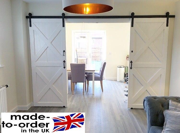 Bi Parting Double Sliding Barn Door System