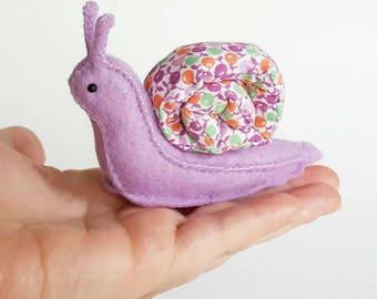 Stuffed Snail Plush Sewing Pattern * DIY Stuffed Animal Sewing Pattern * Felt Animal Snail Woodland Craft Project