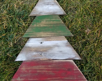 Rustic pallet style tree hand painted