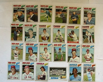 These 24 (VG or better cond)  MAJOR League Baseball cards. All are Topps brand 1977 Cards.  see description