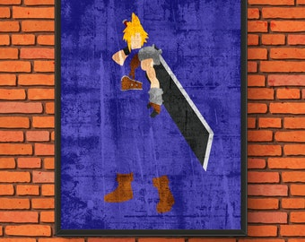 Gaming Minimalism - Cloud Strife