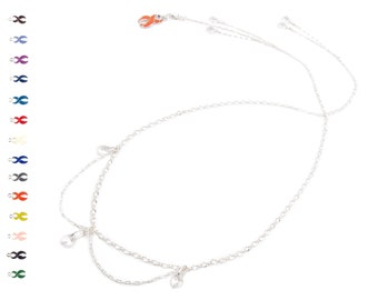 Sparkling Sugar - Silver Lariat Necklace - Crystal Necklace - Inspirational Jewelry - Back Drop Necklace