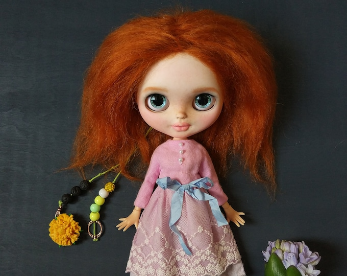 Custom Blythe TBL with Red hair and BJD body