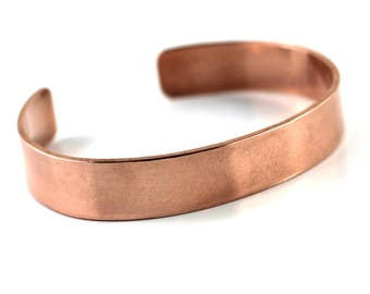 Men or Women's Copper Cuff/ Rugged hand forged Copper Cuff/artisan hammered Copper Cuff /Men's Cuff shop sand and silver vancouver island bc