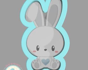 Boy Rabbit Cookie Cutter