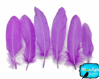 Goose Feathers, 1 Pack - LAVENDER Goose Satinettes Feathers 0.3 oz. : 139