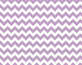 Lavender and White Small Chevron by Riley Blake Designs - Light Purple - Quilting Cotton Fabric - fat quarter