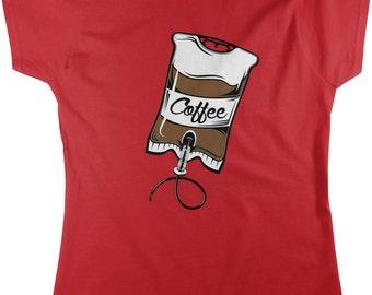 Coffee IV Bag, Caffeine, Expresso, Love Coffee, Cappuccino Women's T-shirt, NOFO_00164