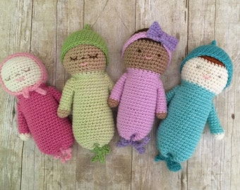Amigurumi Crochet Baby Doll Patterns Digital Download