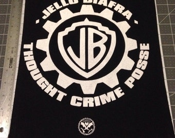 Jello Biafra back patch