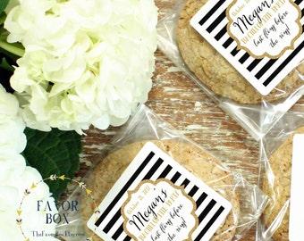 24 - Bachelorette Party Favor Bags - Cellophane Cookie Bags, Candy Bags - Sparkle Label  - Wedding Favor Cookie Bag