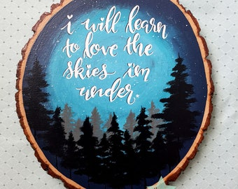 Hopeless Wanderer Rustic Wood Round