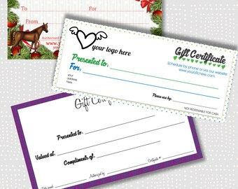 Gift Certificate, Loyalty Card, Voucher Certificate, Coupon, digital design and fast delivery in PNG format