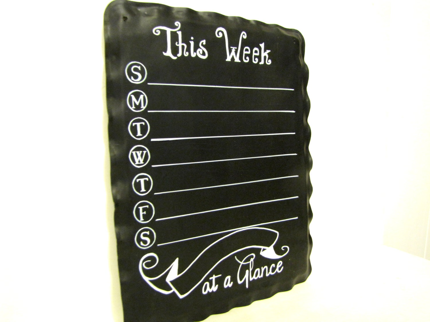 chalkboard organizer week at a glance handmade wall art to do list recycled