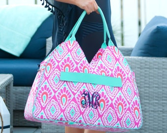 Beachy Keen Beach Bag - Monogram Included