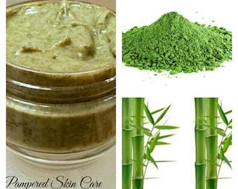 Hair Paste/Mask Bamboo & Japanese Organic Matcha Green Tea - Revitalizing, Conditioning, Repair - Silk Amino Acids, Pro Vitamin B5