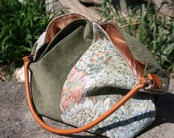 """""""Tapestry"""" bag carried shoulder, unique, handmade"""