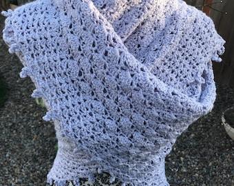 Lavender Crochet Triangle Shawl