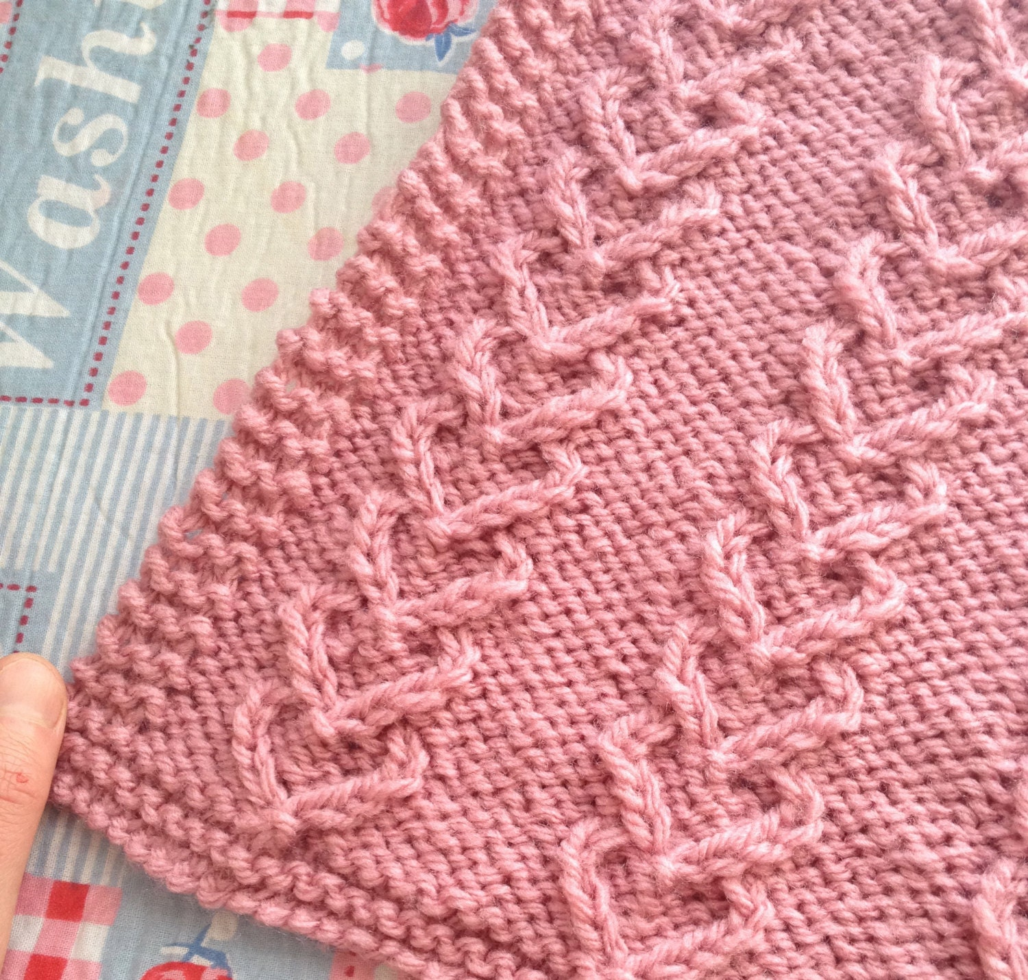 Heart Baby Blanket, Knitting Pattern, Cable, Pram, Instant Download ...