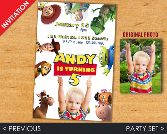Toy Story Invitation - Toy Story Invite - Toy Story - Toy Story Party Set - Toy Story Party Kit - Woody Invitation - Woddy Invite
