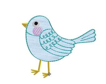 Embroidery design bird