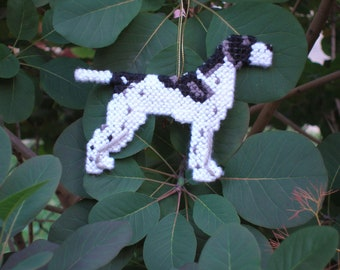 Pointer English everyday dog Ornament for display or Christmas, double sided dog art, Clearance, Price Reduced 25% off