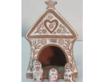 Nativity Christmas gingerbread house