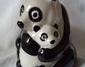 Vintage Wade Ceramic Panda Bank