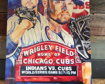 Cubs 2017 World Series Canvas Print