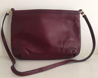 Paris Style Oxblood Leather Shoulder Bag