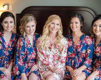 Set of 7 Bridesmaid Robes, Bridesmaids Gift, Robes for Bridesmaids, Gift for Bridesmaids, Getting Ready Robes, Bridal Party Robes
