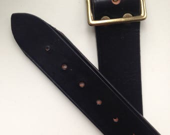 Vintage military officer leather belt new old stock 1950s