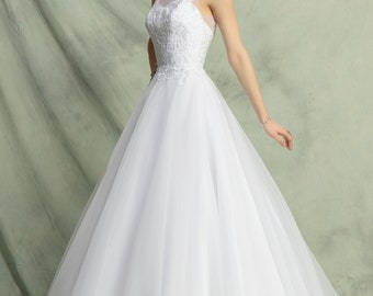 Sweet Wedding Dress With Lace, Organza And Tulle