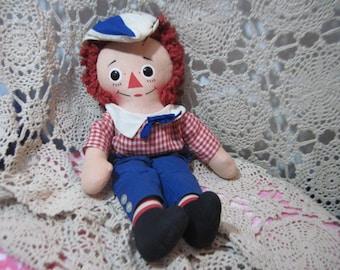 Raggedy Andy Doll, Vintage Raggedy Andy Doll By Knickerbocker 15 inches Tall, Vintage Rag Doll, Rag Doll, Knickerbocker Toys,  :)s*