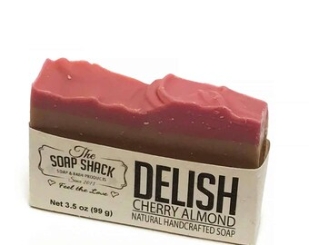 Natural Handmade Soap – Cherry Almond - Extra moisturizing - Experience Delish!