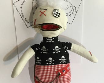 Art Doll, Goth Doll,Keepsake, Fun Doll