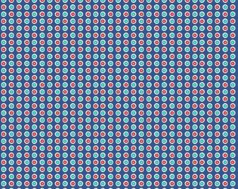 Blue 1930's Dots by Riley Blake Designs 112cm (w) x 25cm