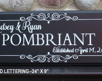 Gift for wedding-shower-anniversary-gift for parents-Custom name sign-wedding gifts for couple-personalized plaque-bridal shower-Wood sign