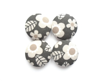 Black Magnets, Gray Magnets, Floral Magnets, Fabric Magnets, Cute Magnets, Handmade Magnets, Fridge Magnets, Nature Magnets, Magnetic Board