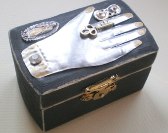 Santa Fe - Crazy Gypsy Magic Jewelry Box. Milagro Silver Hand. GIFT. Stocking Stuffer. Gay Friend.  Wedding. Mom GIFT